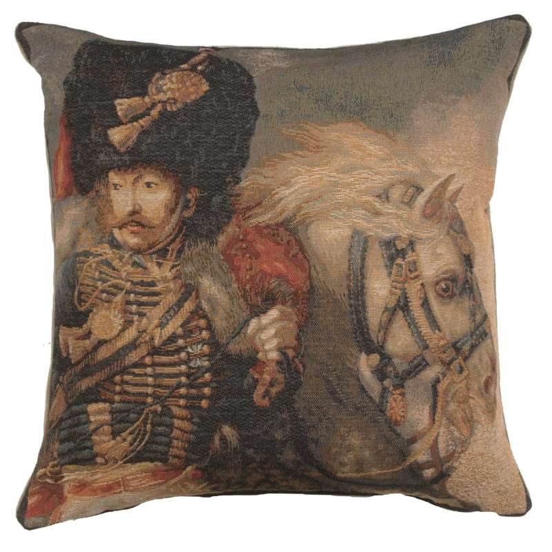 Officer of the Guard French Tapestry Cushion