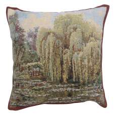 Bridge Monet's Garden  Belgian Tapestry Cushion