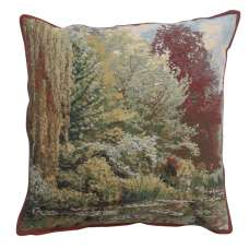 Trees Monet's Garden Belgian Tapestry Cushion