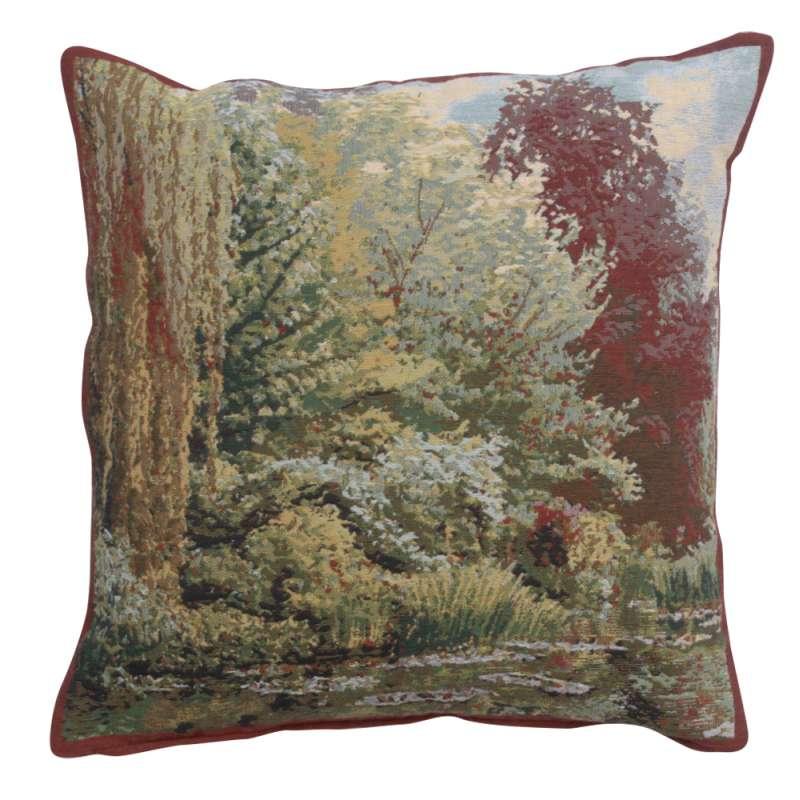 Trees Monet's Garden Belgian Tapestry Cushion