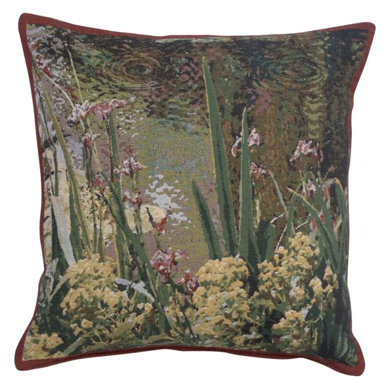 Lively Water Monet's Garden Belgian Tapestry Cushion