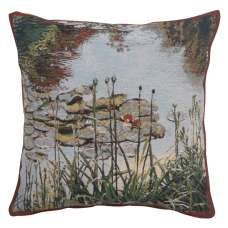 Waterlily Monet's Garden Belgian Tapestry Cushion