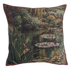 Greenery Monet's Garden  Belgian Tapestry Cushion