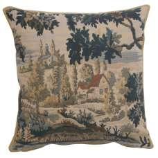 Paysage Flamand Village 1 Belgian Tapestry Cushion