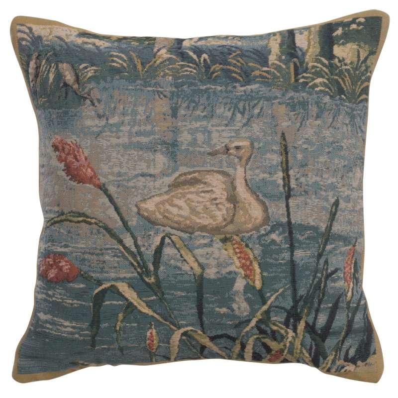 Wawel Forest left Belgian Tapestry Cushion