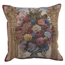 Floral in Arch Belgian Tapestry Cushion