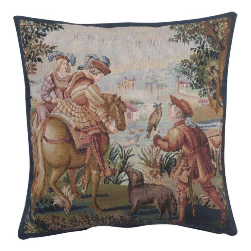 Falcon 1 Belgian Tapestry Cushion