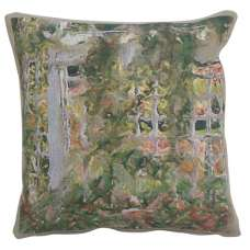 Jardin Red Flowers Decorative Tapestry Pillow