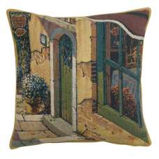 Bellagio Village Door Belgian Tapestry Cushion
