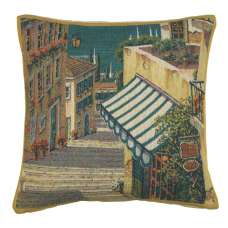 Bellagio Village I Belgian Tapestry Cushion