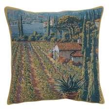 Lakeside Vineyard Right Belgian Tapestry Cushion