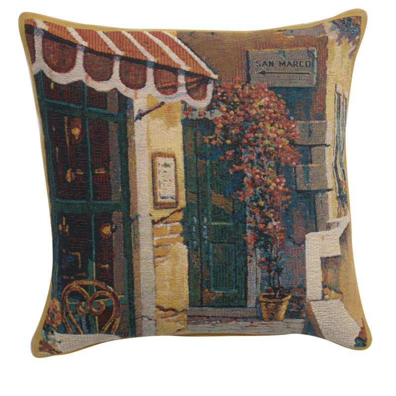 Passage to San Marco I Belgian Tapestry Cushion