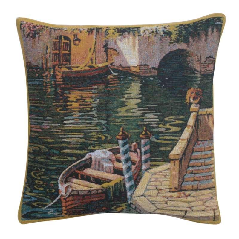 Varenna Reflections Boat II Belgian Tapestry Cushion