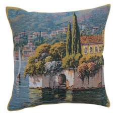 Varenna Reflections Village Left Decorative Tapestry Pillow