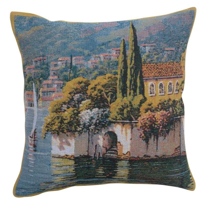 Varenna Reflections Village Left Decorative Tapestry Pillow
