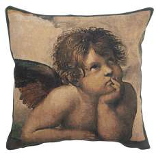 Angels by Raffael left Belgian Tapestry Cushion