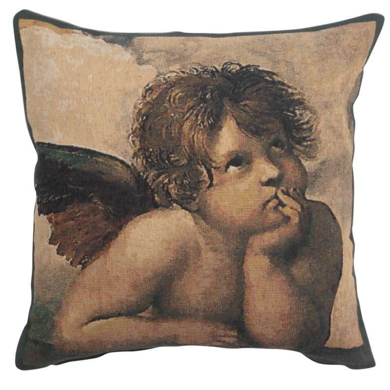 Angels by Raffael left Belgian Tapestry Cushion