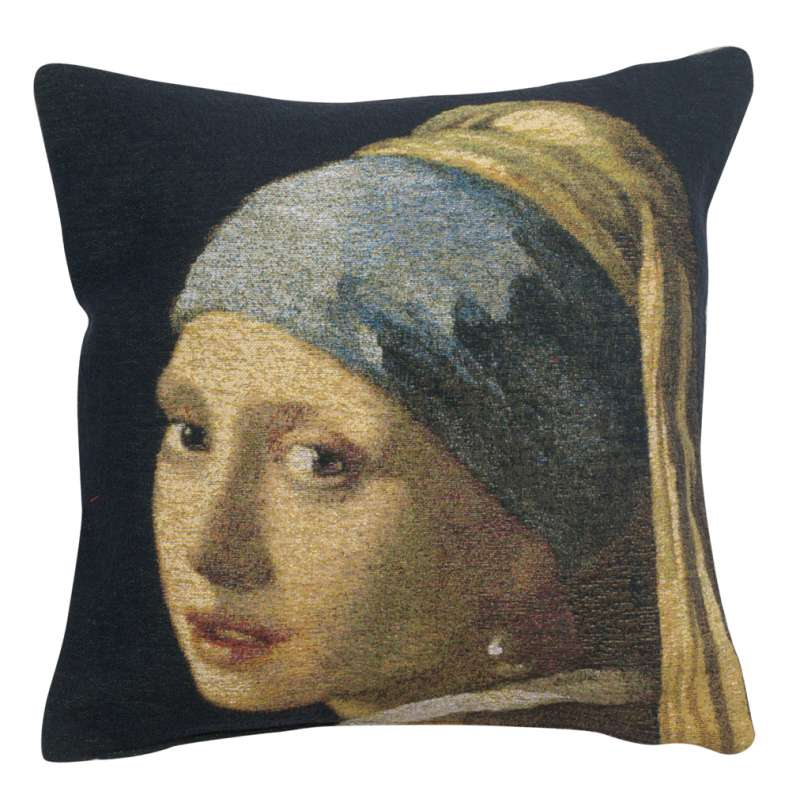 Girl with Pearl Earring I Belgian Tapestry Cushion
