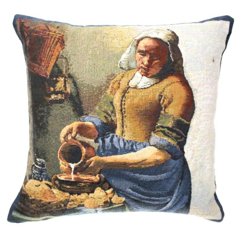 Servant Girl I Belgian Tapestry Cushion
