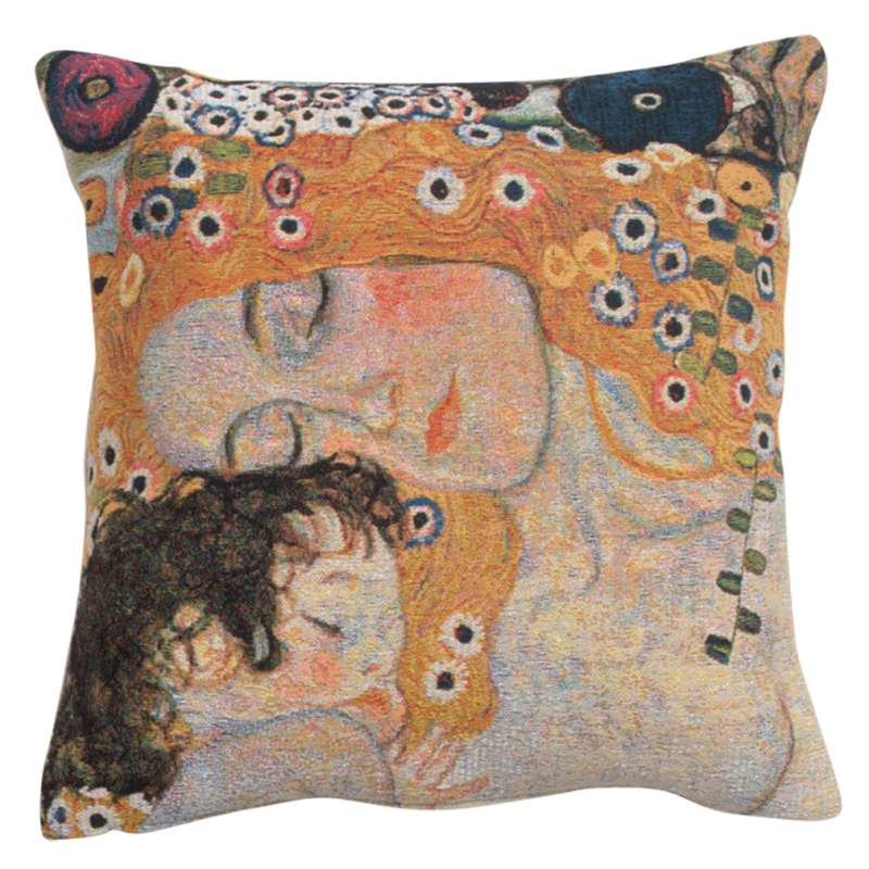 Mother and Child 1 Belgian Tapestry Cushion