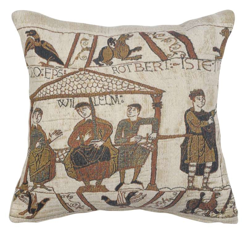 Banquet Feast Belgian Tapestry Cushion