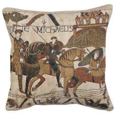 Mont St Michel 1 Belgian Tapestry Cushion
