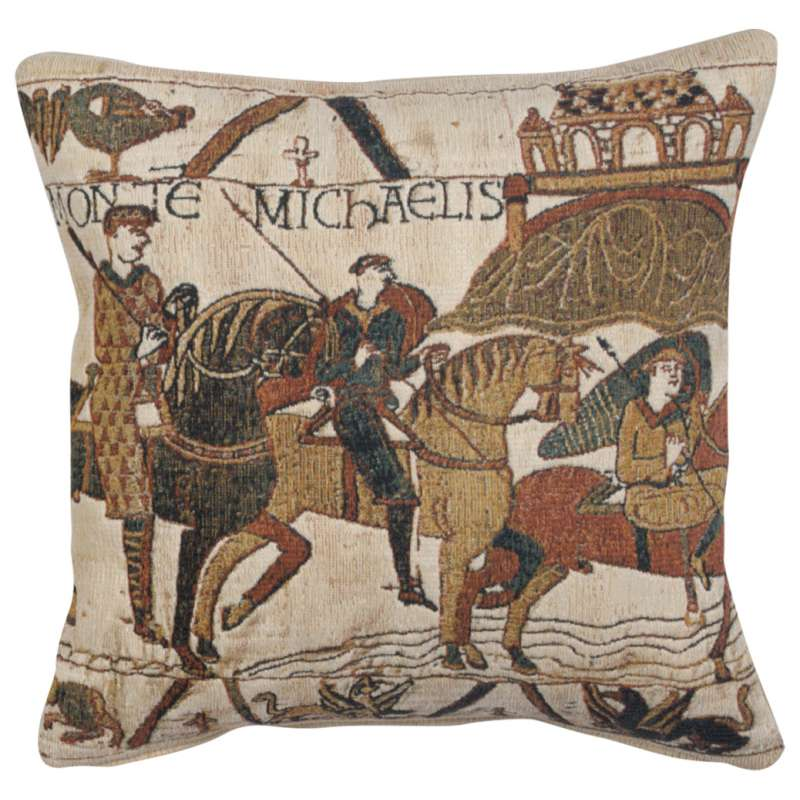 Mont St Michel 1 Decorative Tapestry Pillow
