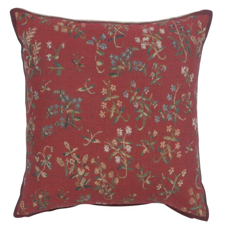 Licorne Mille Fleurs II Decorative Tapestry Pillow