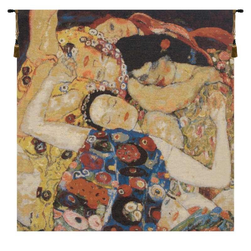 Virgin Klimt Faces Belgian Tapestry Wall Hanging