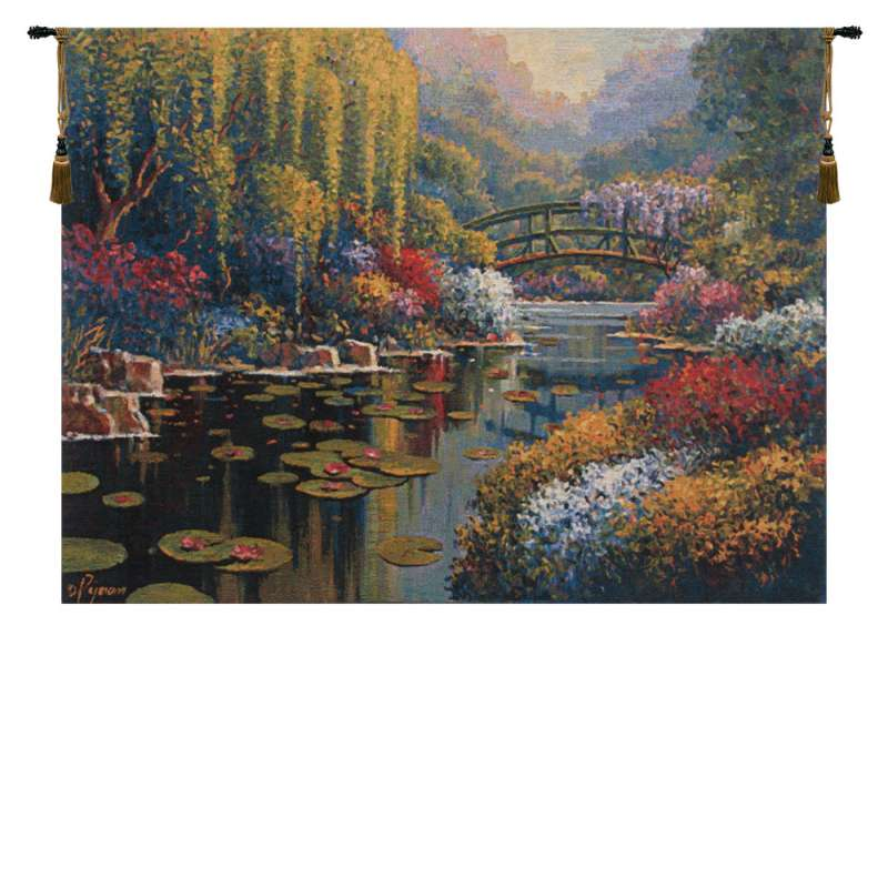 Giverny Pond Belgian Tapestry Wall Hanging