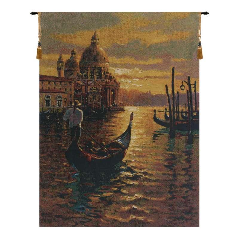 Venetian Sunset 1 Belgian Tapestry Wall Hanging