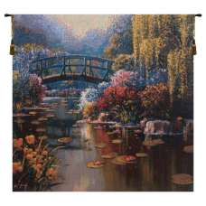 Giverny Pond I Belgian Tapestry Wall Hanging