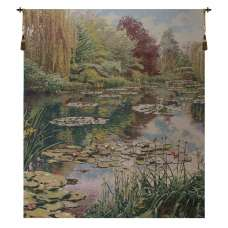 Monet's Garden without Border Belgian Tapestry Wall Hanging