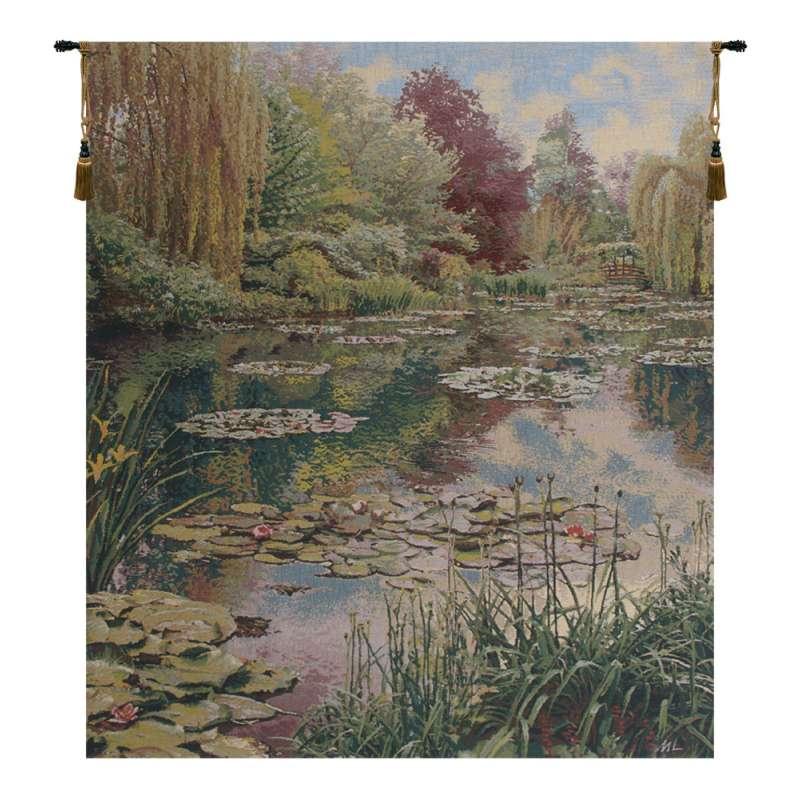 Monet's Garden without Border III Belgian Tapestry Wall Hanging