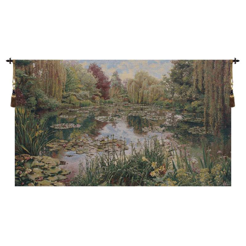 Monet's Garden without Border IV Belgian Tapestry Wall Hanging