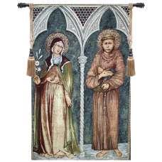 Saint Francis and Saint Clare II European Tapestries