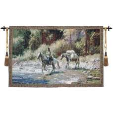 A Good Crossing II Fine Art Tapestry