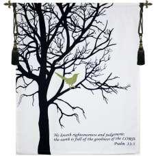 Bird with Verse Fine Art Tapestry
