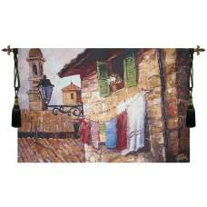 Laundry Day Fine Art Tapestry