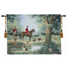 Which Way Did He Go Fine Art Tapestry