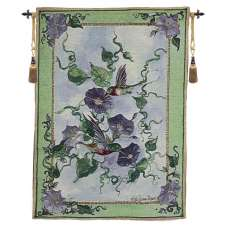 Hummingbird Haven Fine Art Tapestry