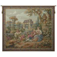 Repos Fontaine Rest Fountain II French Tapestry Wall Hanging