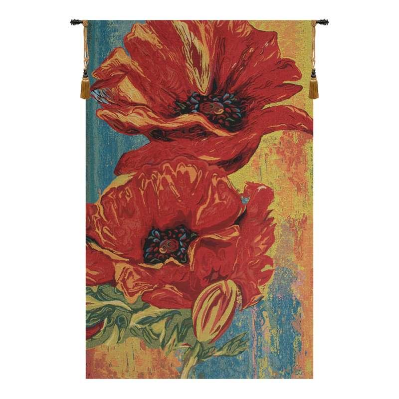 2 Poppys Belgian Tapestry
