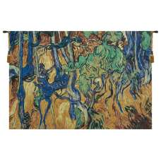 Tree Roots and Trunks Belgian Tapestry