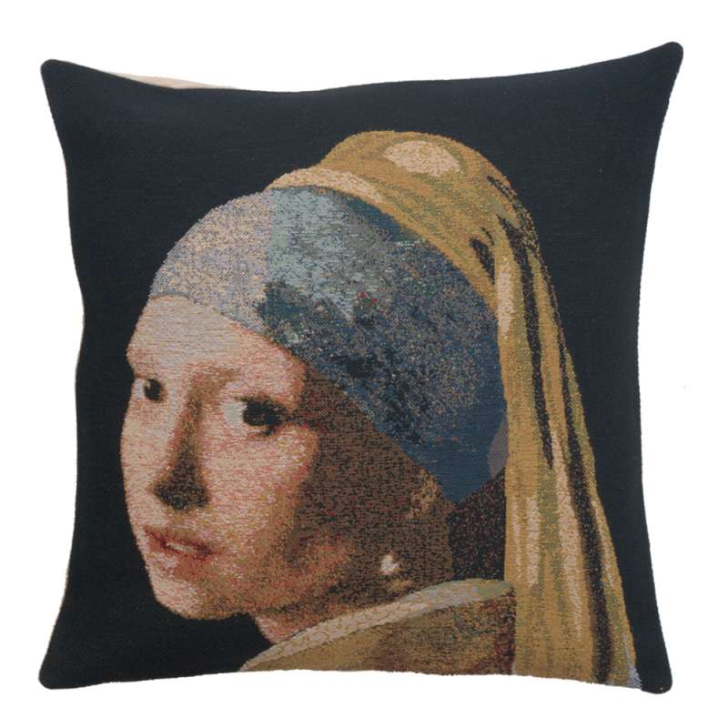 Girl With The Pearl Earring Belgian Cushion Cover