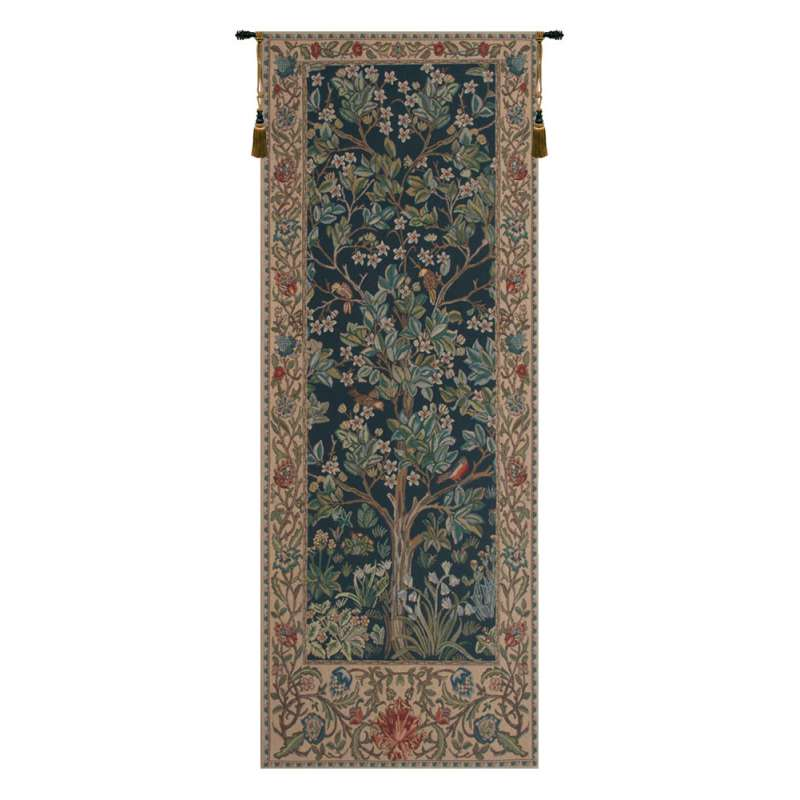 The Tree of Life Portiere Belgian Tapestry
