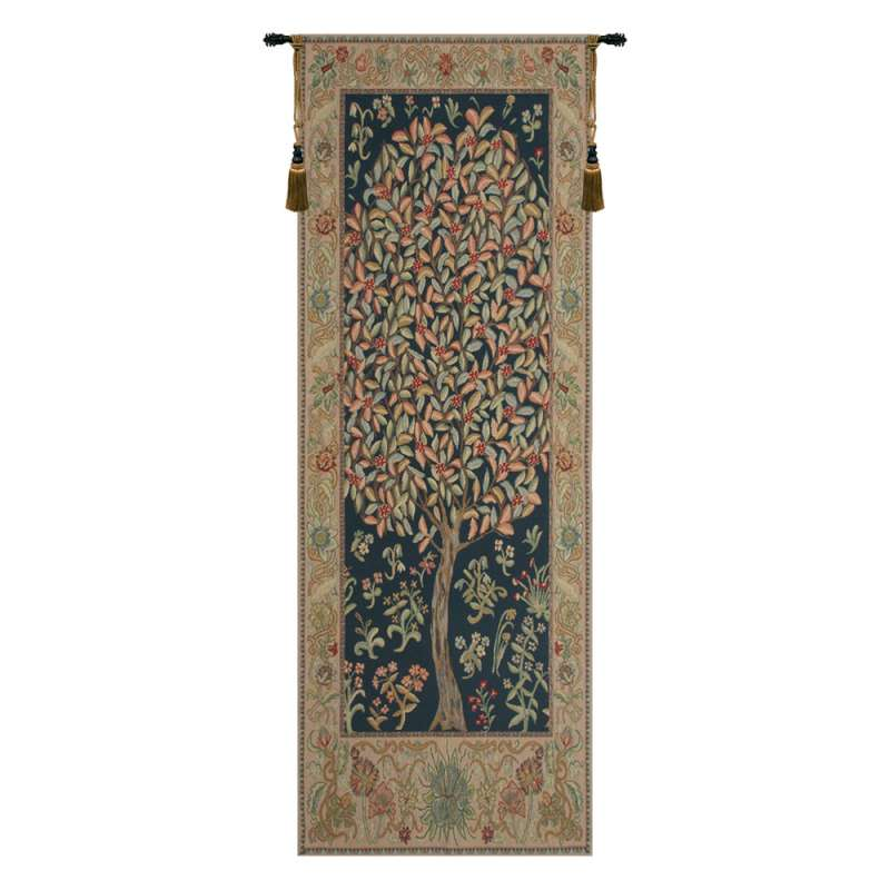 The Pastel Tree Portiere Belgian Tapestry