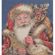 Santa's Arrival Stretched Wall Tapestry