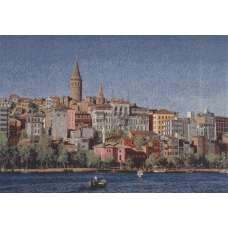 City by the Sea Stretched Wall Tapestry