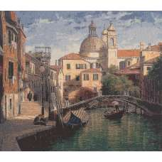 Floating Venice Stretched Wall Tapestry